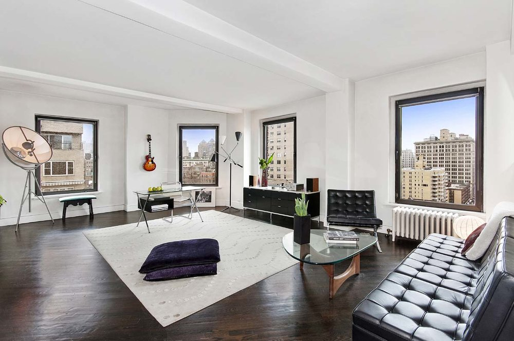 One Fifth Avenue Apt. 16B Living Room