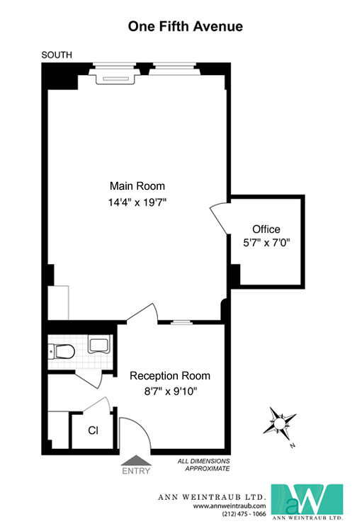 One Fifth Avenue Office 1A Floor Plan