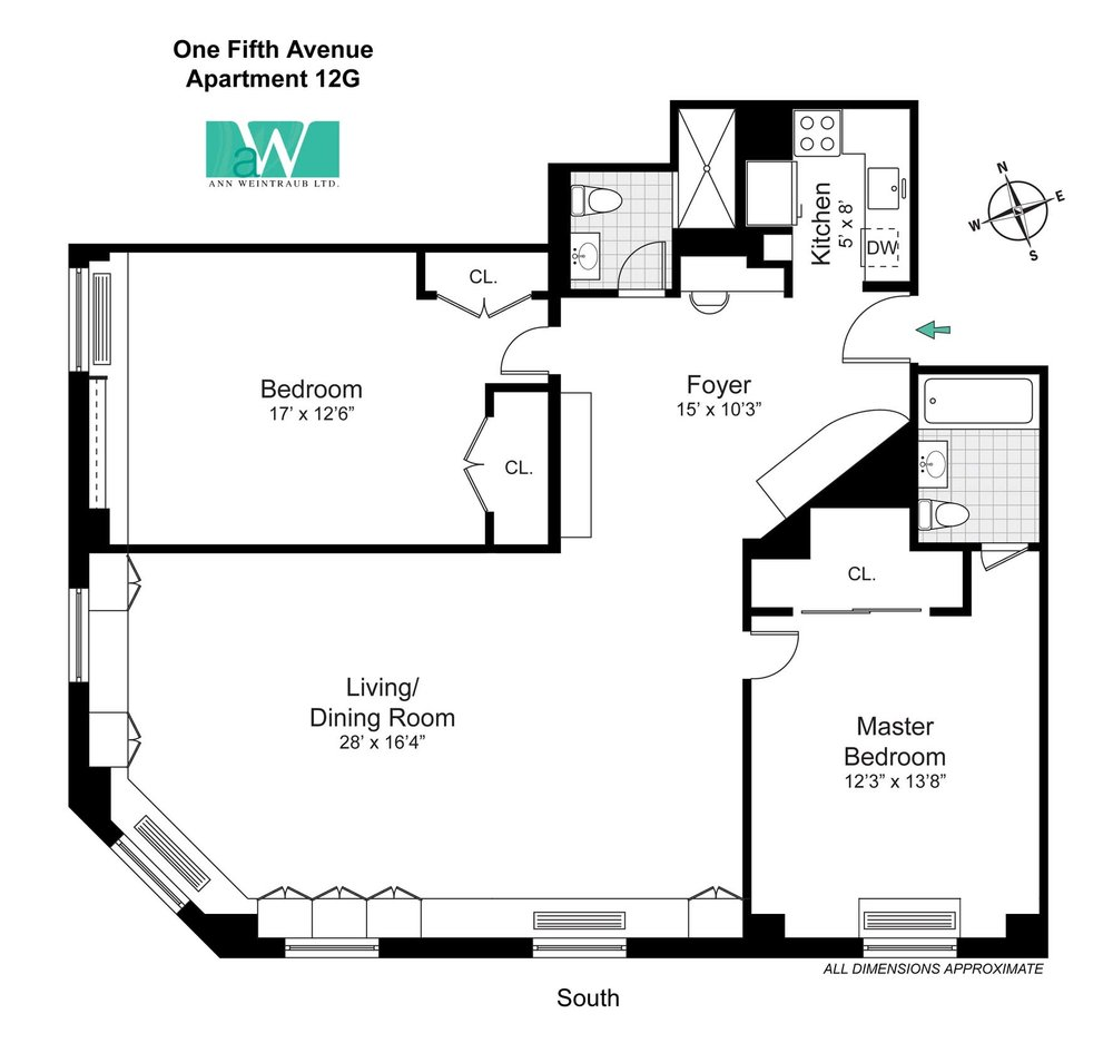 One Fifth Avenue Apt. 12G Floorplan