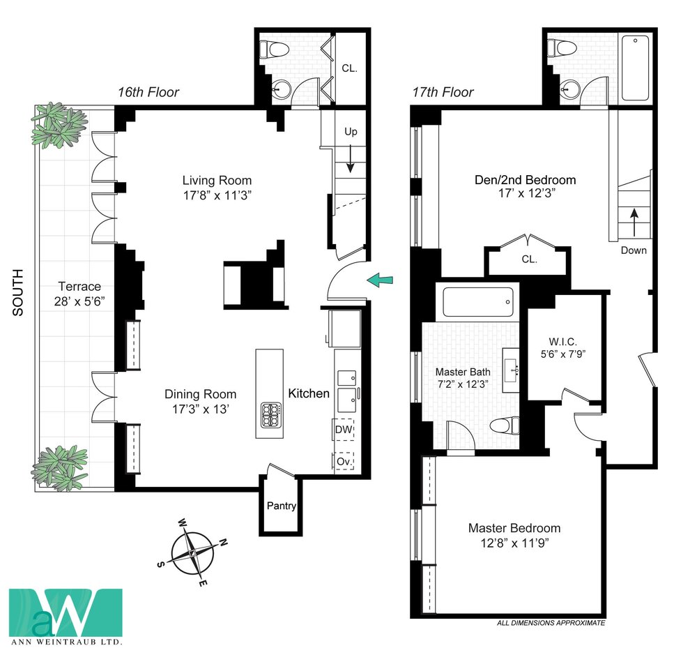 One Fifth Avenue Apt. 16H Floor Plan