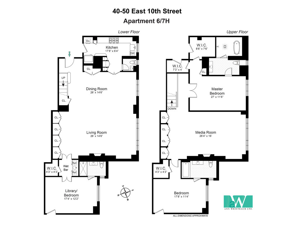 40-50 East 10th St, Apt. 6/7H Floorplan