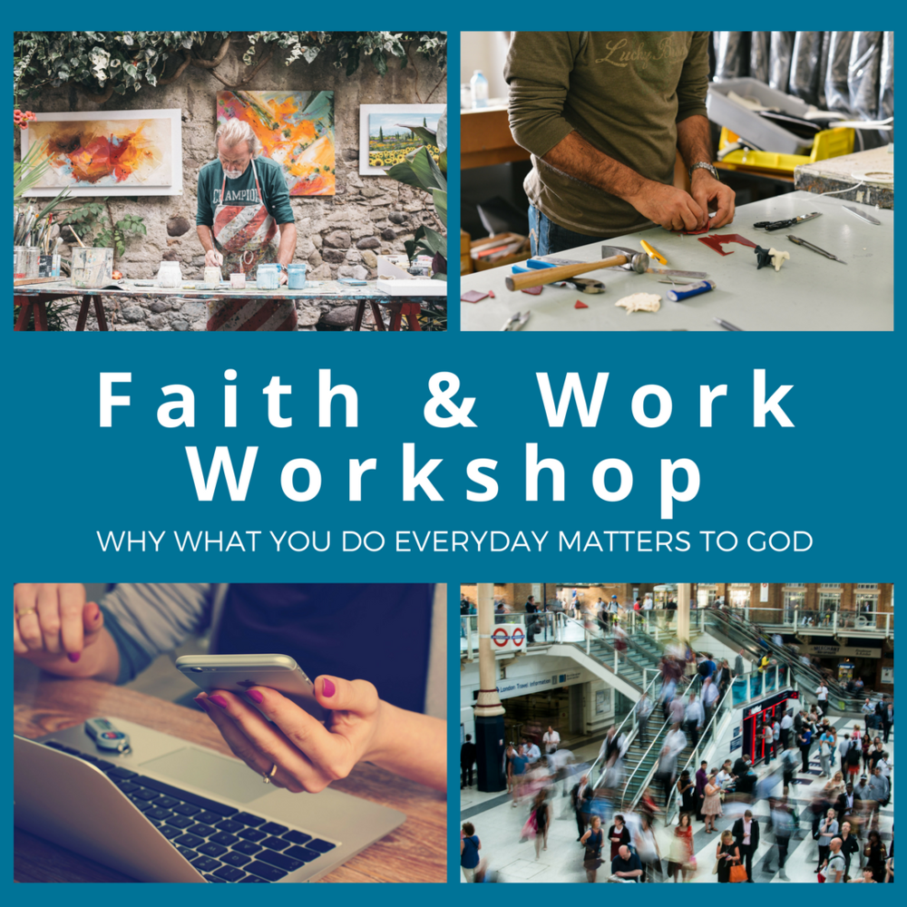 Faith & Work Workship  - Join us for this interactive Workshop to learn how your faith not only enables you to work for God's glory, but also gives a you framework to understand God's Kingdom purpose for you in the world. We'll look at God's original intentions for work, how sin has corrupted it and how we get to play a role in God's redemptive purposes no matter what work we find ourselves doing every day.  When: March 17, 10am-2pm, lunch includedWhere: HTC Offices, 53 W. Jackson #450Cost is $5 for lunch and you must RSVP here