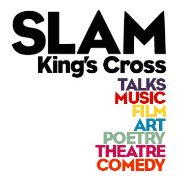 SLAM Kings Cross SLAM is a new venue and bar in King's Cross that curates to enable creators to create.