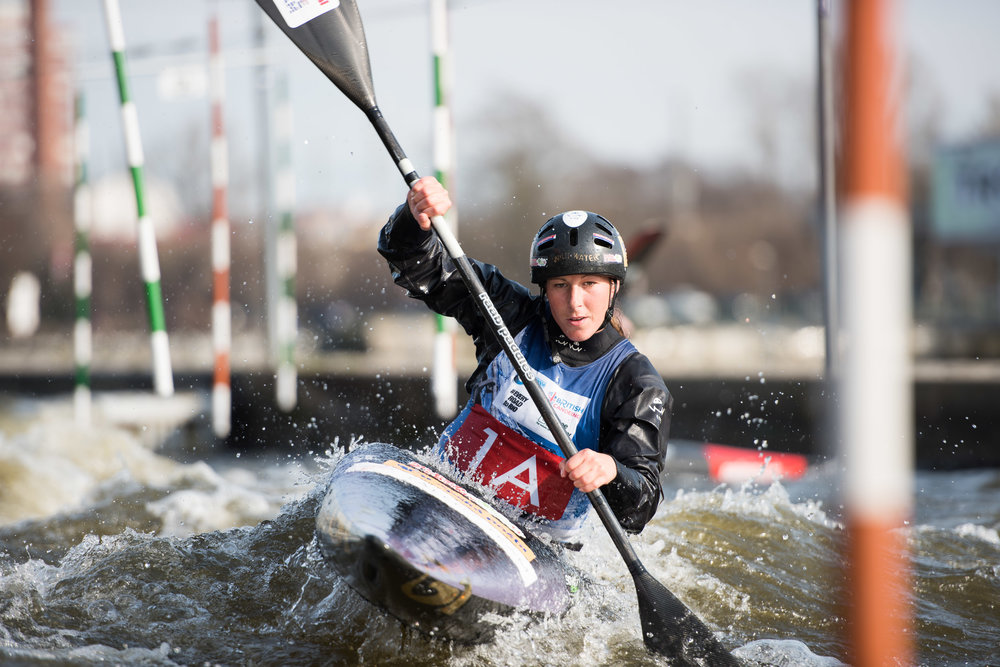Kateřina Kudějová - world champion in water slalom