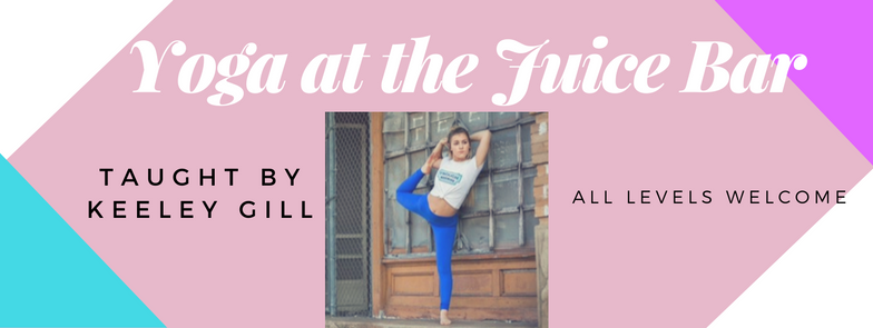 Join us after the workday for a rejuvenating 1 hour beginner flow with instructor Keeley Gill.  Class is $10.  Reserve you spot  here .  Juice pre-orders available.