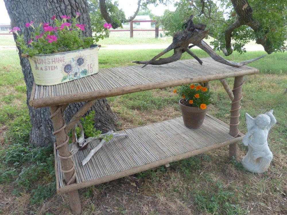 Double-Top Garden Table