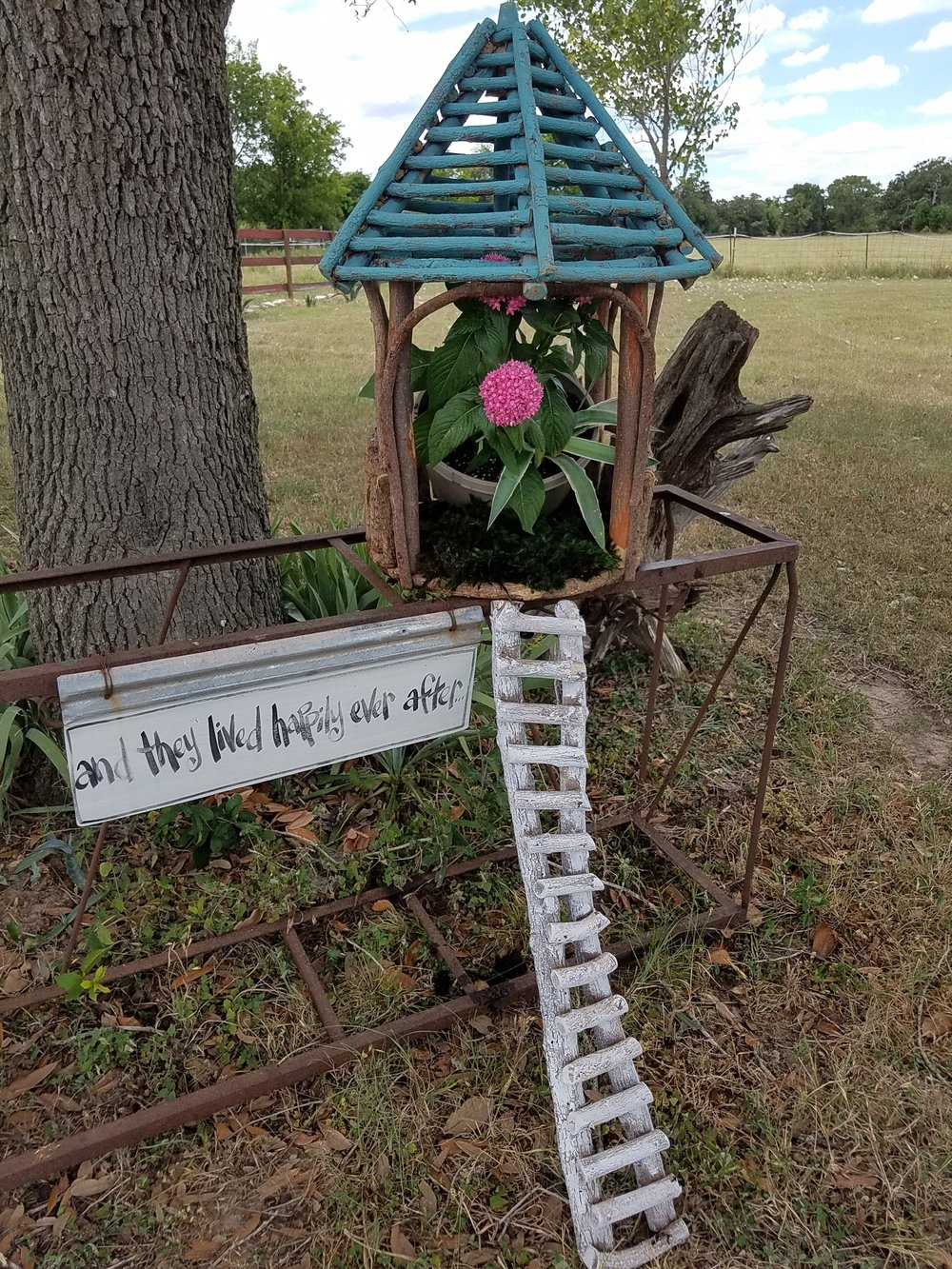 gazebo fairy house painted with ladder.jpg