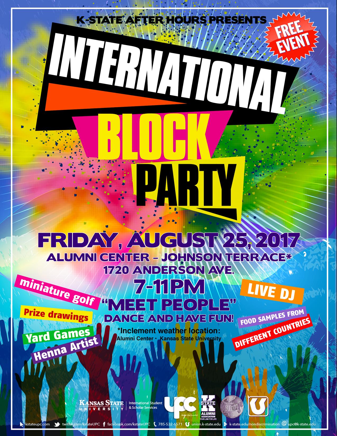 international block party k state student union program council