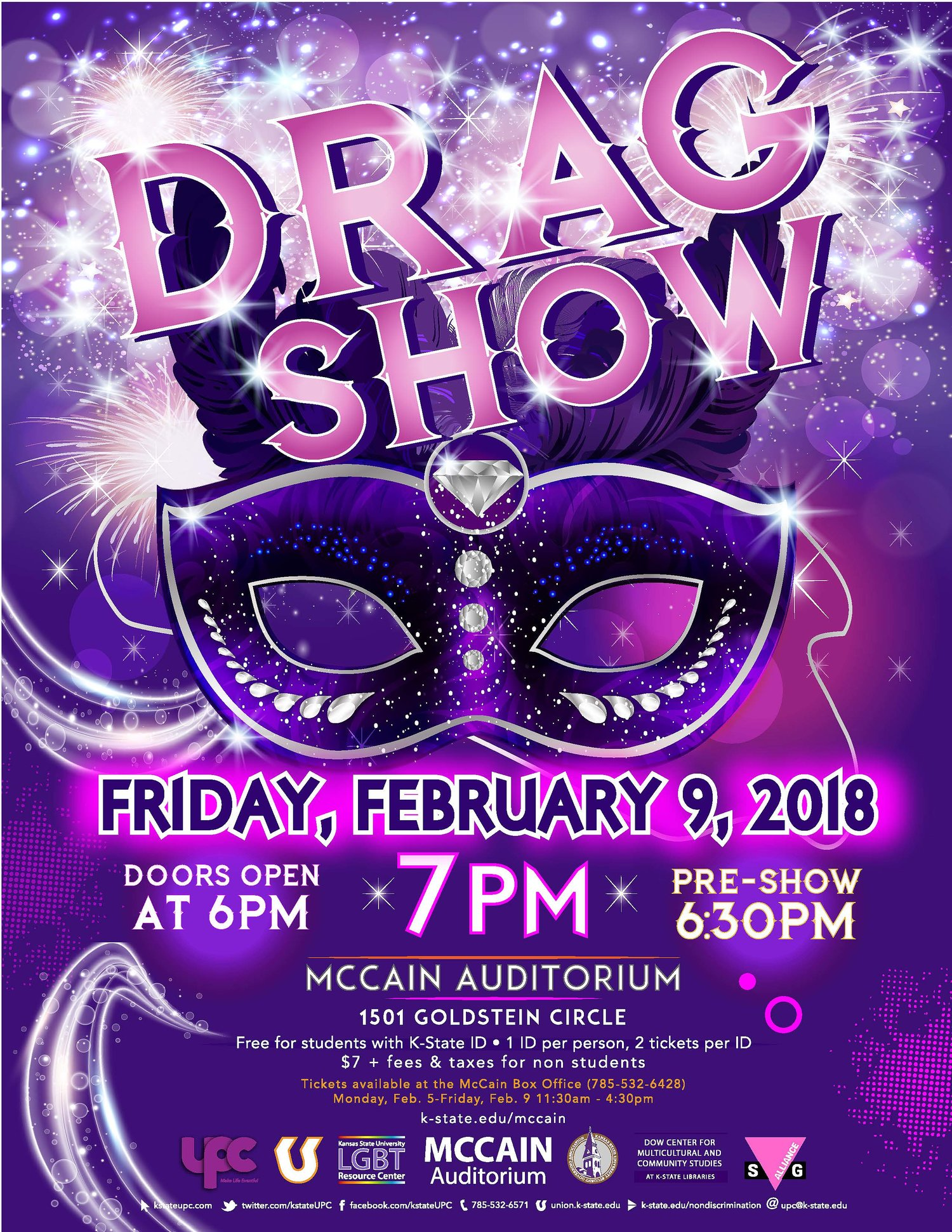 14th annual drag show k state student union program council