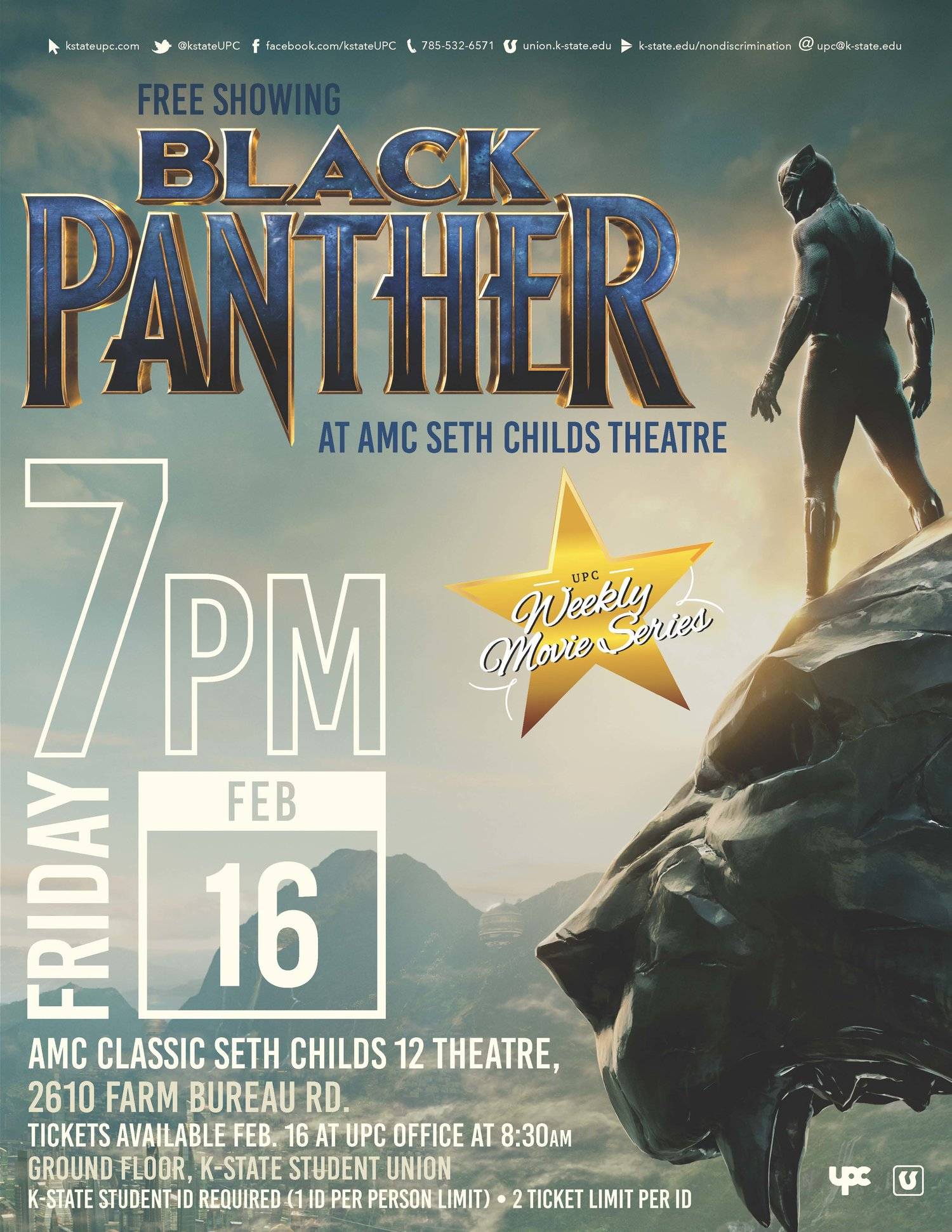 Free Tickets Available For Students To >> Sold Out Free Screening Of Black Panther For K State Students K