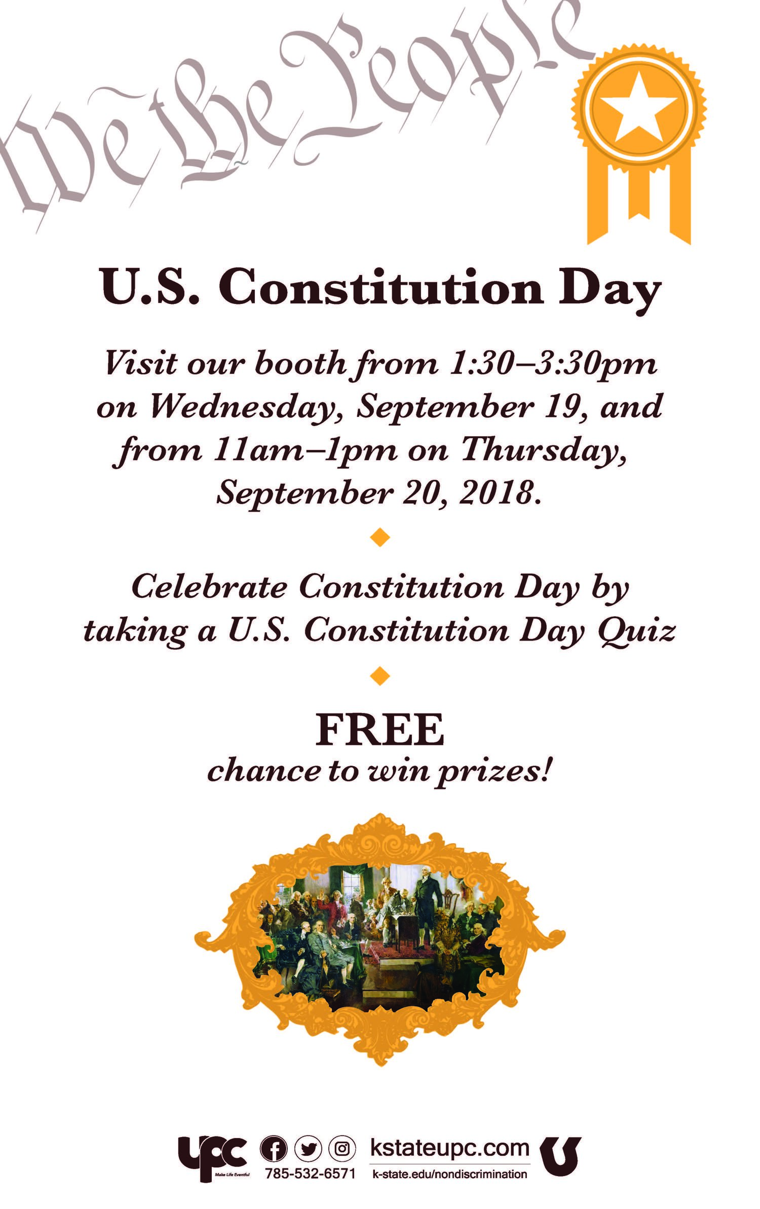 u s constitution day k state student union program council