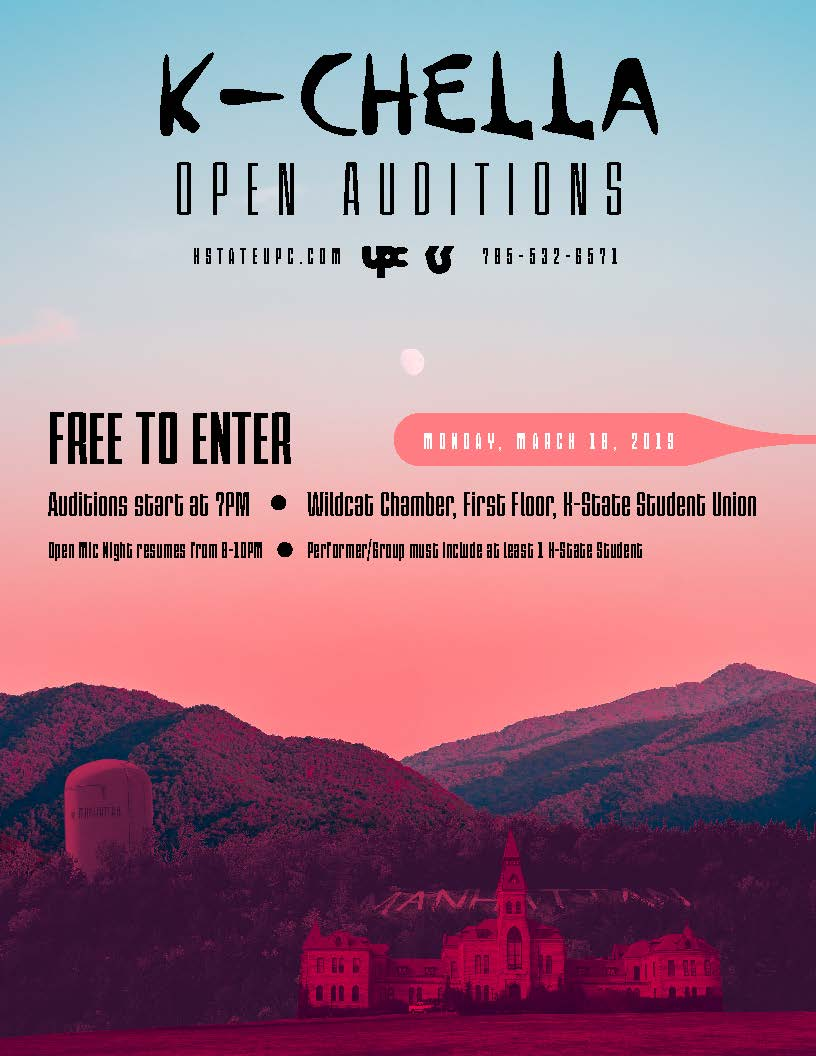 K-Chella Open Auditions (Student Music Festival) — K-State