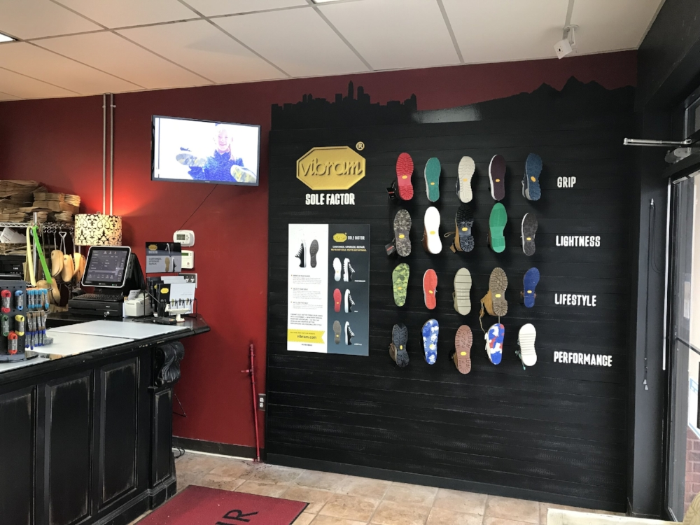 Dean's Shoe Repair in Charlotte, NC. It is the first stop of the 2018 tour and a newly named Vibram Diamond Shop.