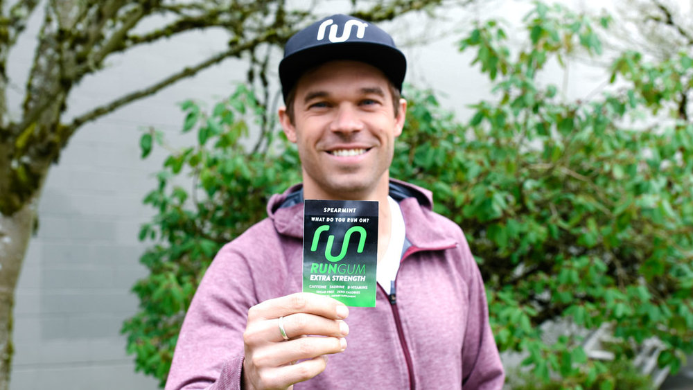 Run Gum co-founder Nick Symmonds with the new Extra Strength formula