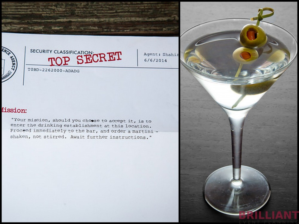 James Bond Proposal, Martini Shaken