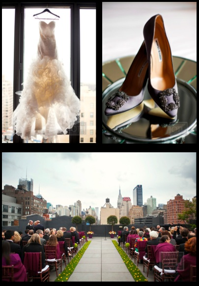 Wedding Dress, Manolo Blahnik, Skylight West Rooftop