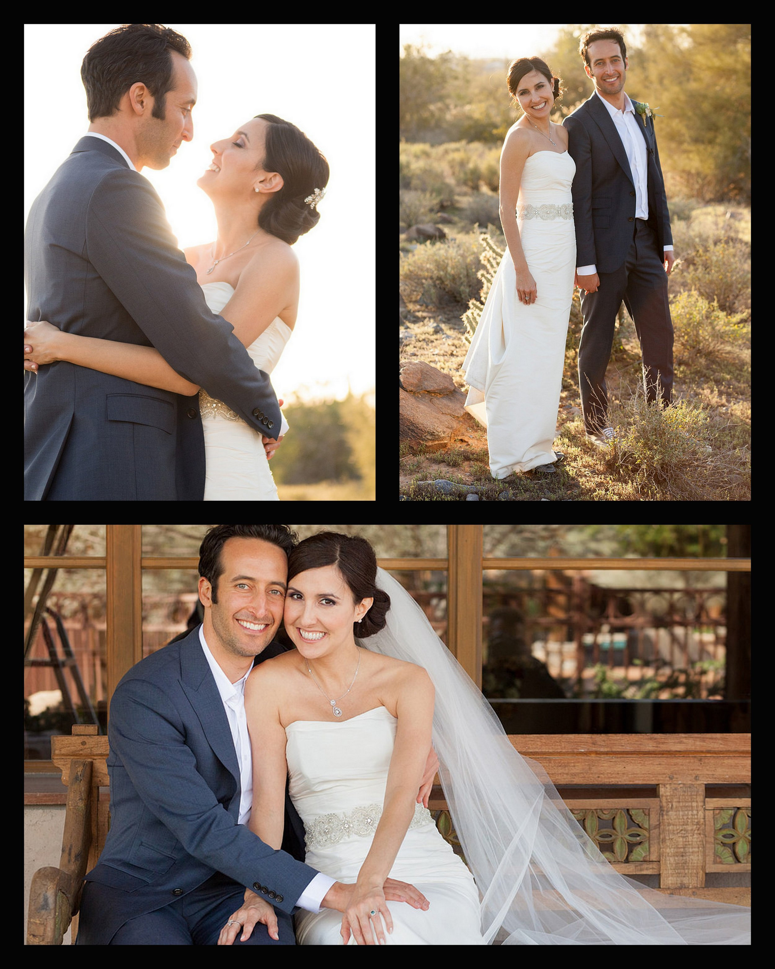 desert wedding, arizona wedding, happy couple