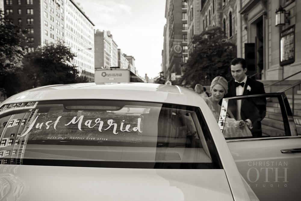 Just Married!  Photo by Christian Oth Studio.