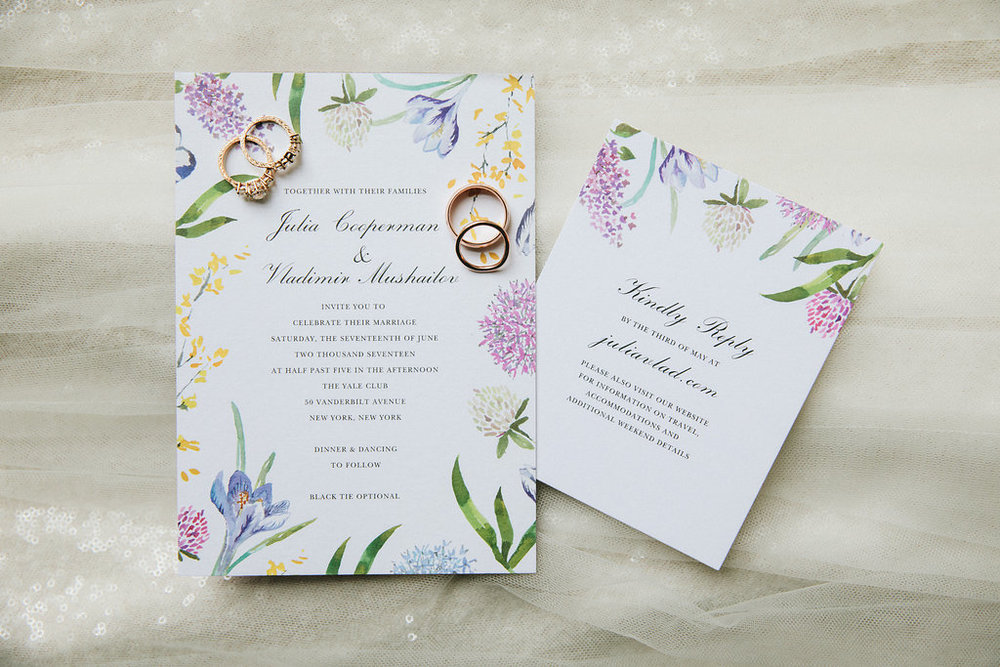 Garden Wedding Invitations.  Photo by Sasithon Photography.
