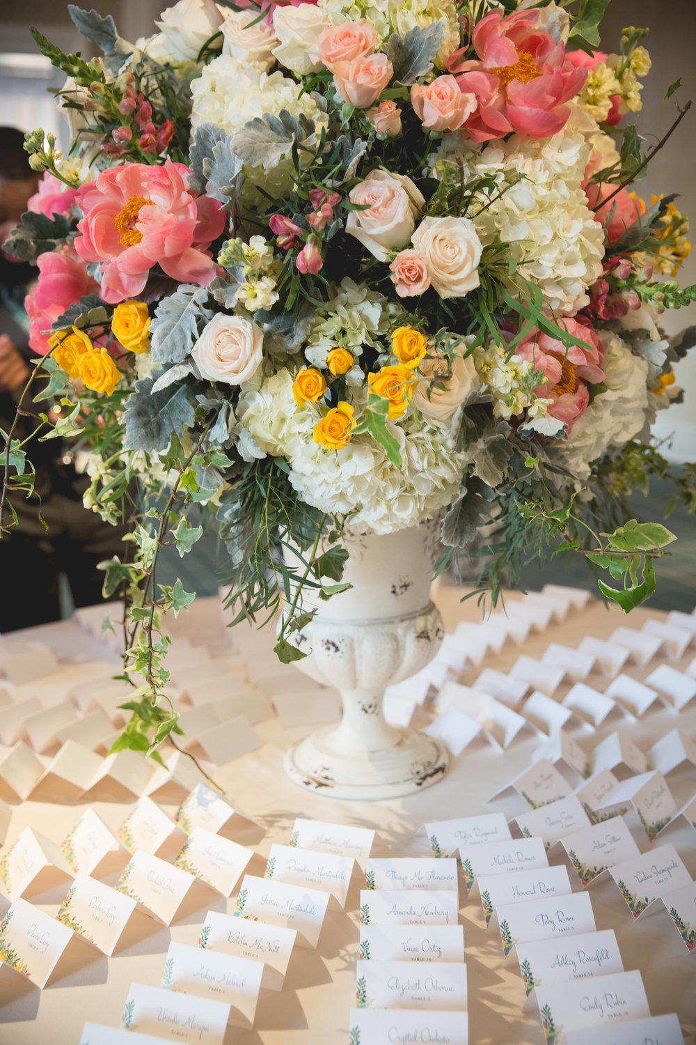 Escort Card Display.  Photo by Heartfelt Studios.