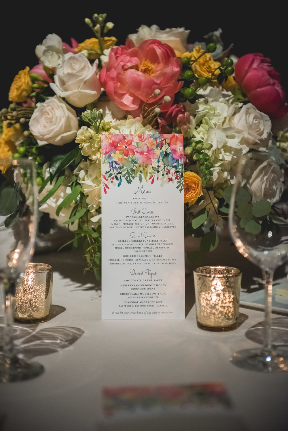 Tabletop prettiness.  Photo by Heartfelt Studios.