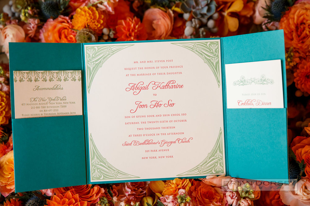 Invitation designed by Regas Studio and Photo by Brian Dorsey Studio.