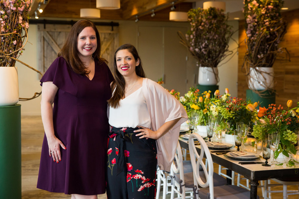 Tammy Golson and Sarah Glick at the Boston Planners Dining Club launch.  Photo by Person + Killian Photography.