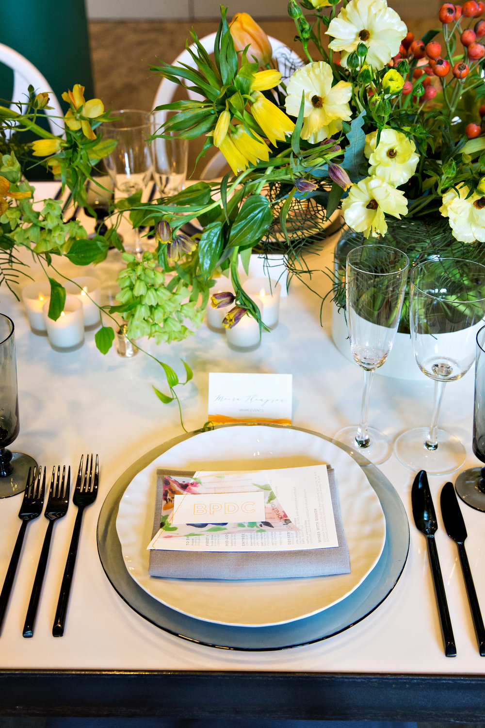 BPDC Place setting.  Photo by Person + Killian Photography.