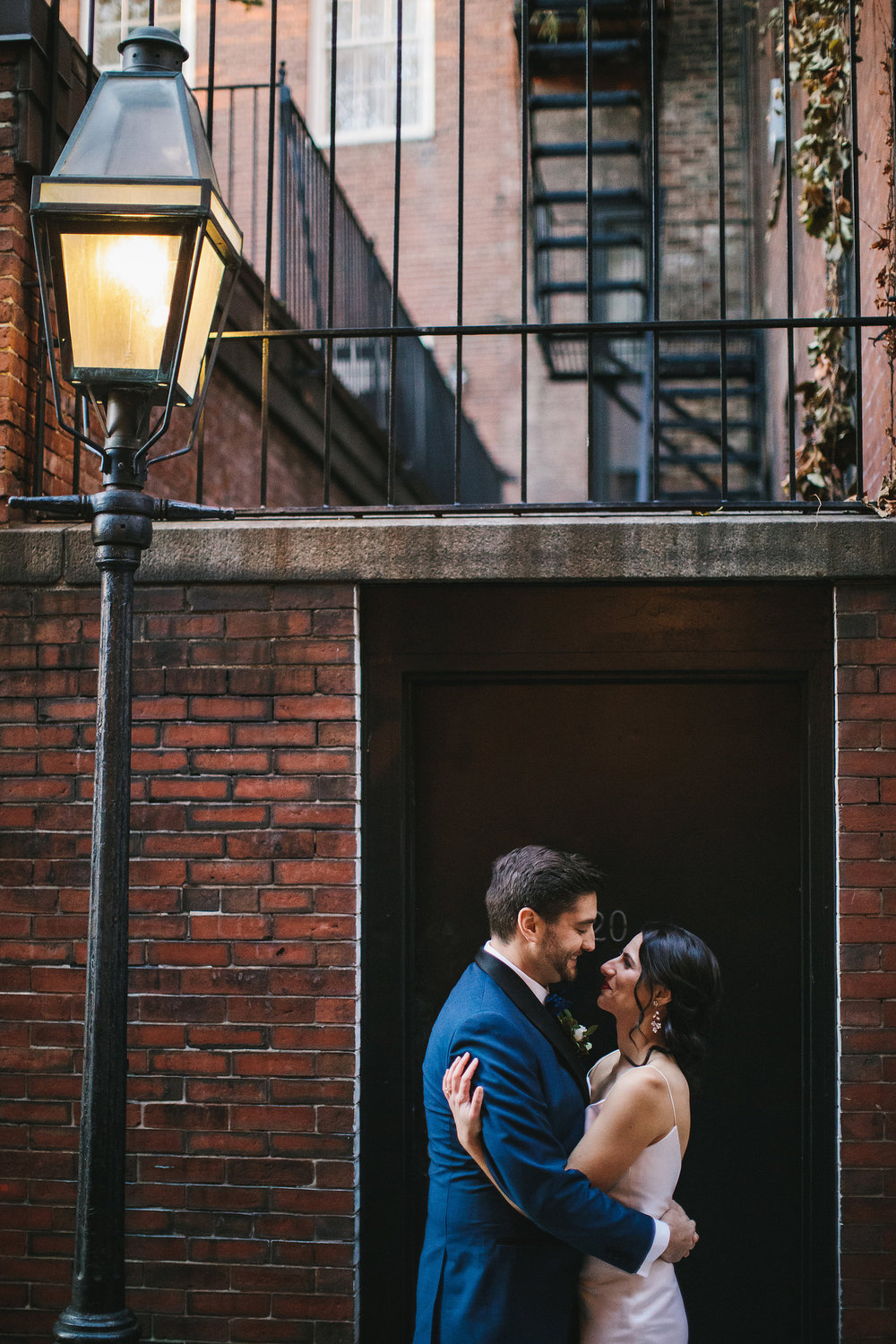 Acorn Street bride and groom portraits by Lindsay Hite Photography.