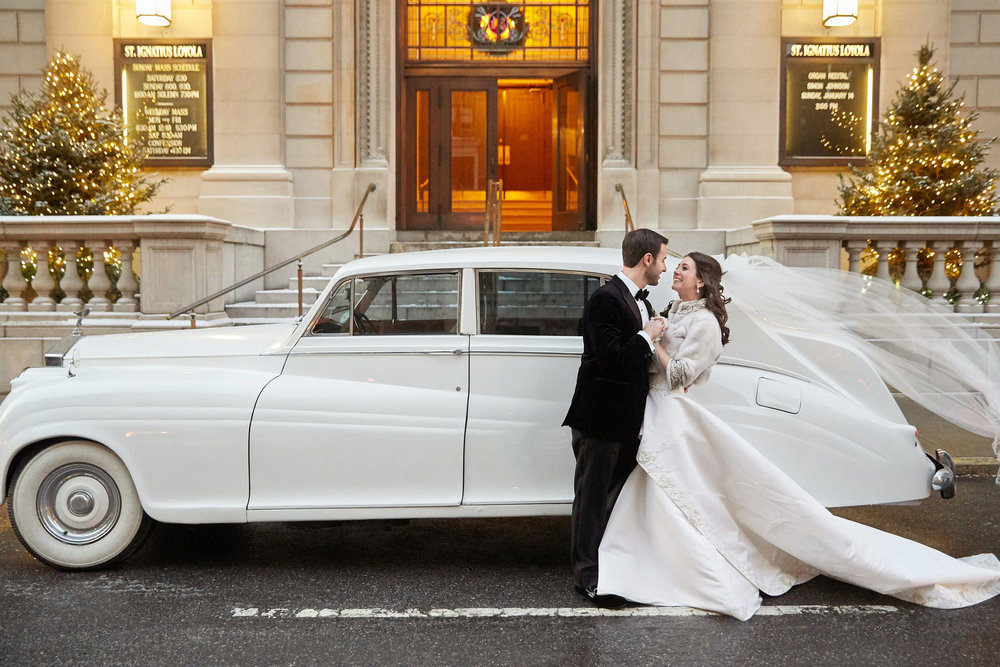Bride and groom getaway car - 1955 Rolls Royce