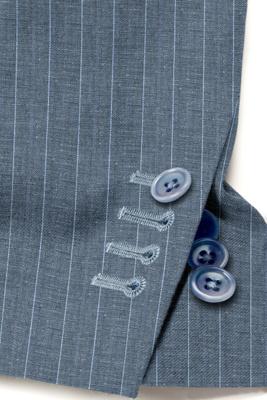 custom made blue striped suit