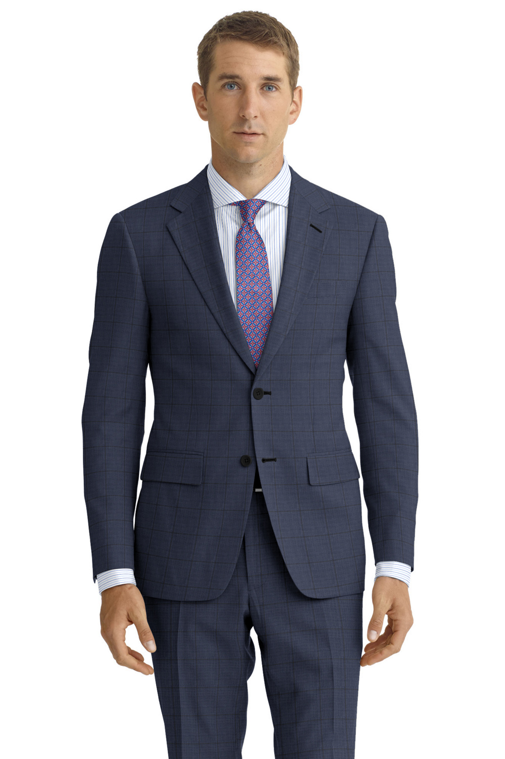 Custom made Admiral blue suit