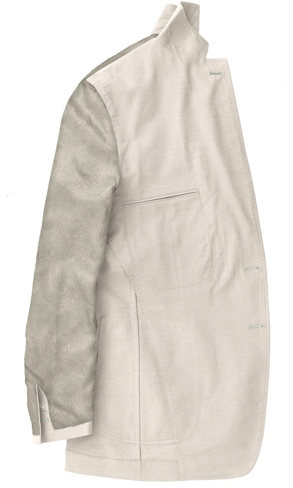 Custom made Ivory blazer with paisley lining