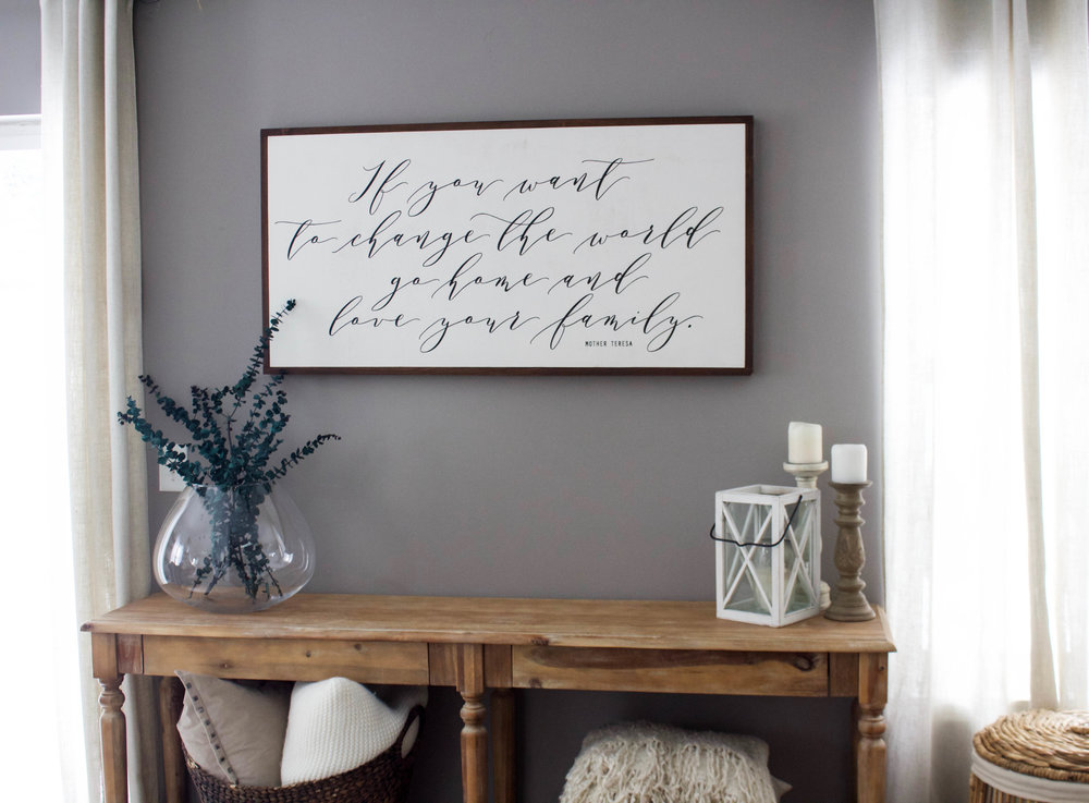 Accent Wall (in between dining room & shiplap wall): Willow Creek By Benjamin Moore.