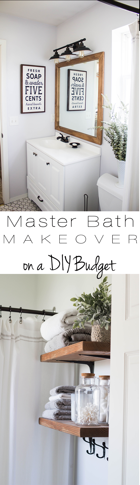 Master Bath Makeover on a DIY Budget