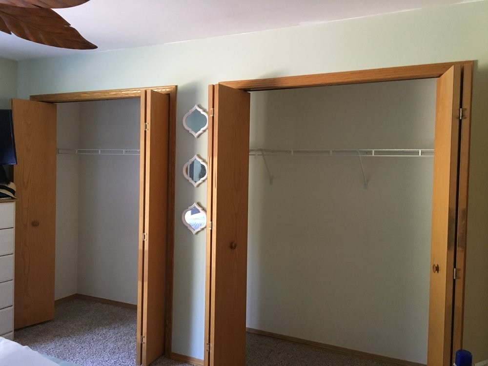 Our closets before Modular Closets