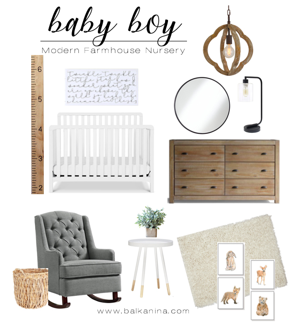 Modern Farmhouse Baby Nursery