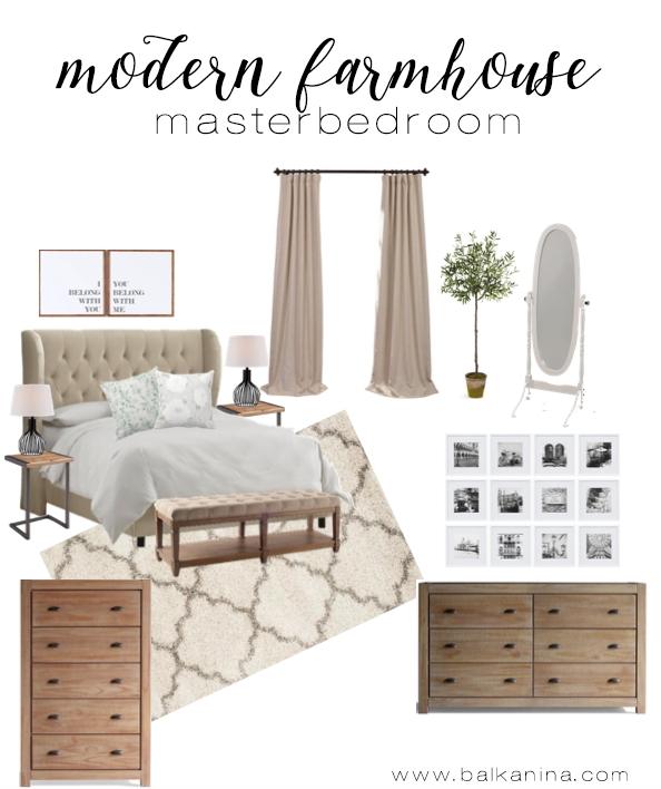 modern farmhouse master bedroom inspiration - Farmhouse Master Bedroom