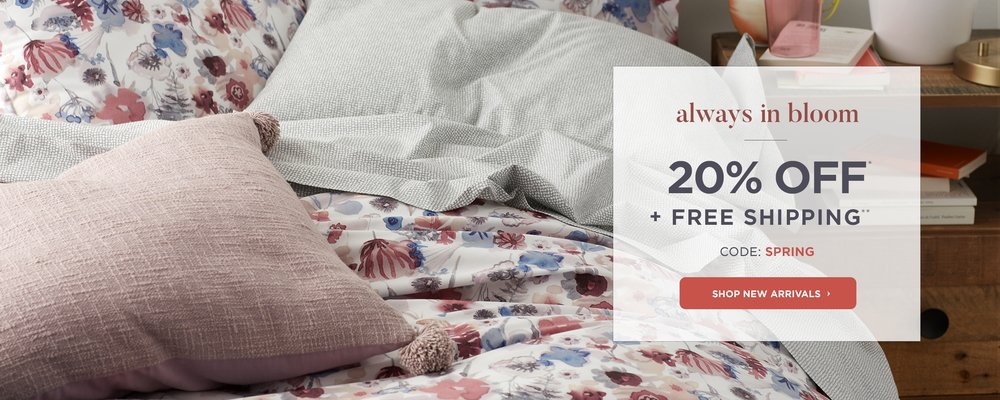 Don't forget to use this 20% OFF Coupon when shopping for your bedding!