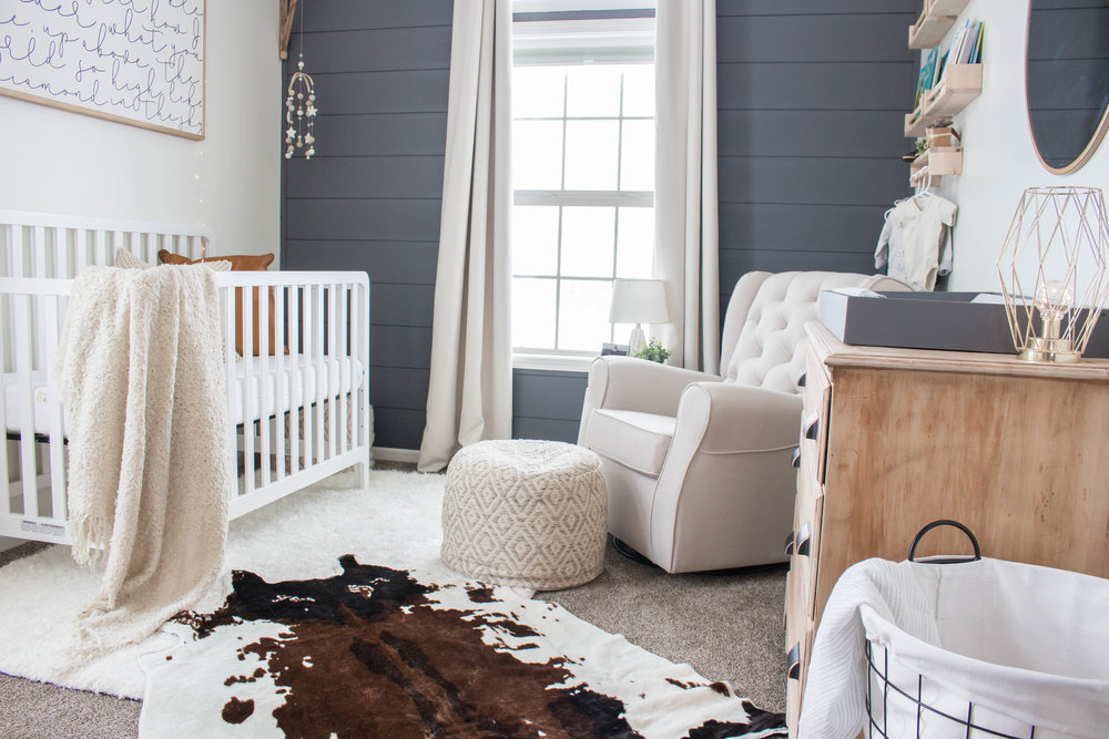 Baby Boy Nurser, Modern Farmhouse Style