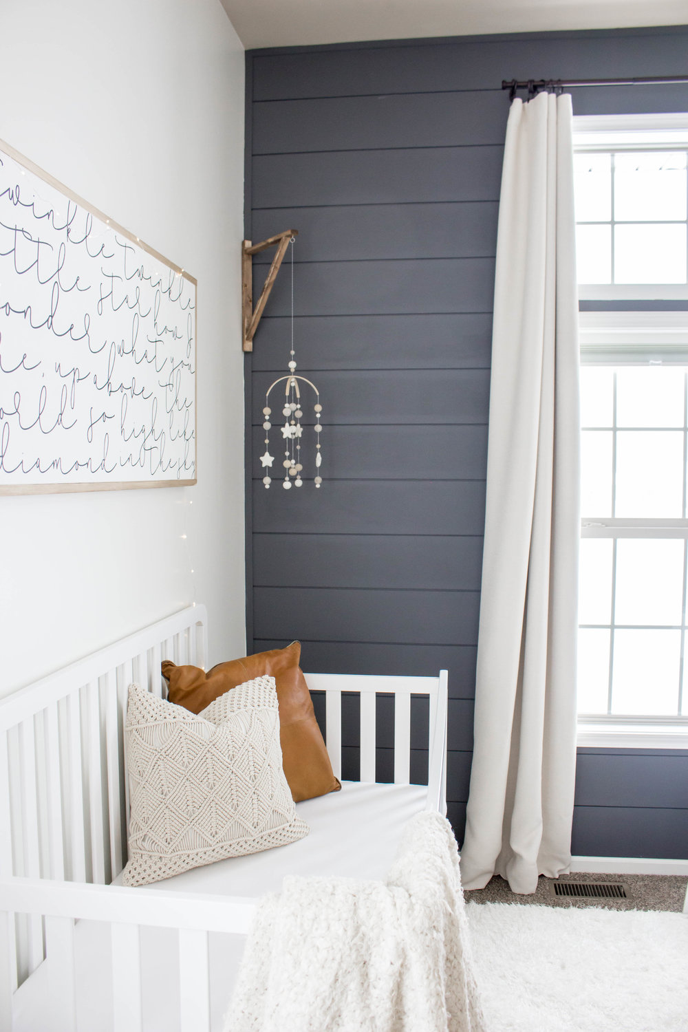 Baby Boy Nursery Shiplap wall