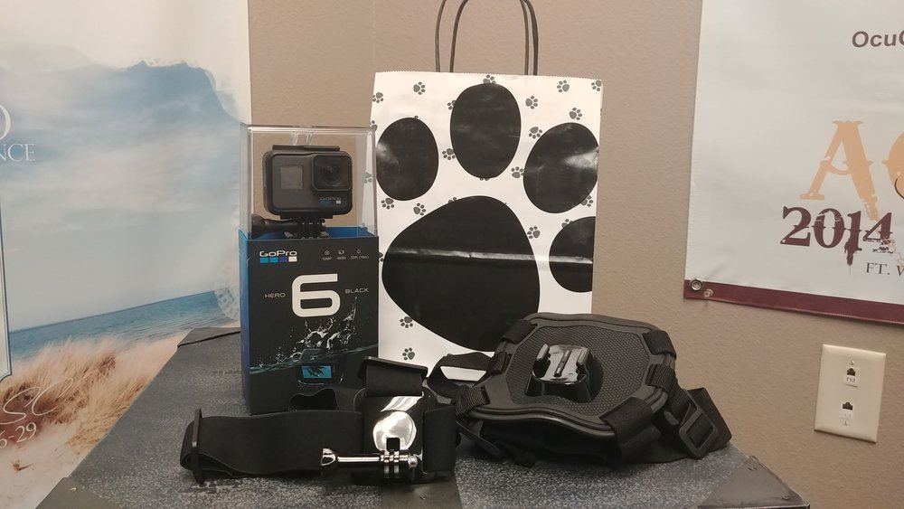The winners will receive the pictured GoPro Hero 6 and dog harness.