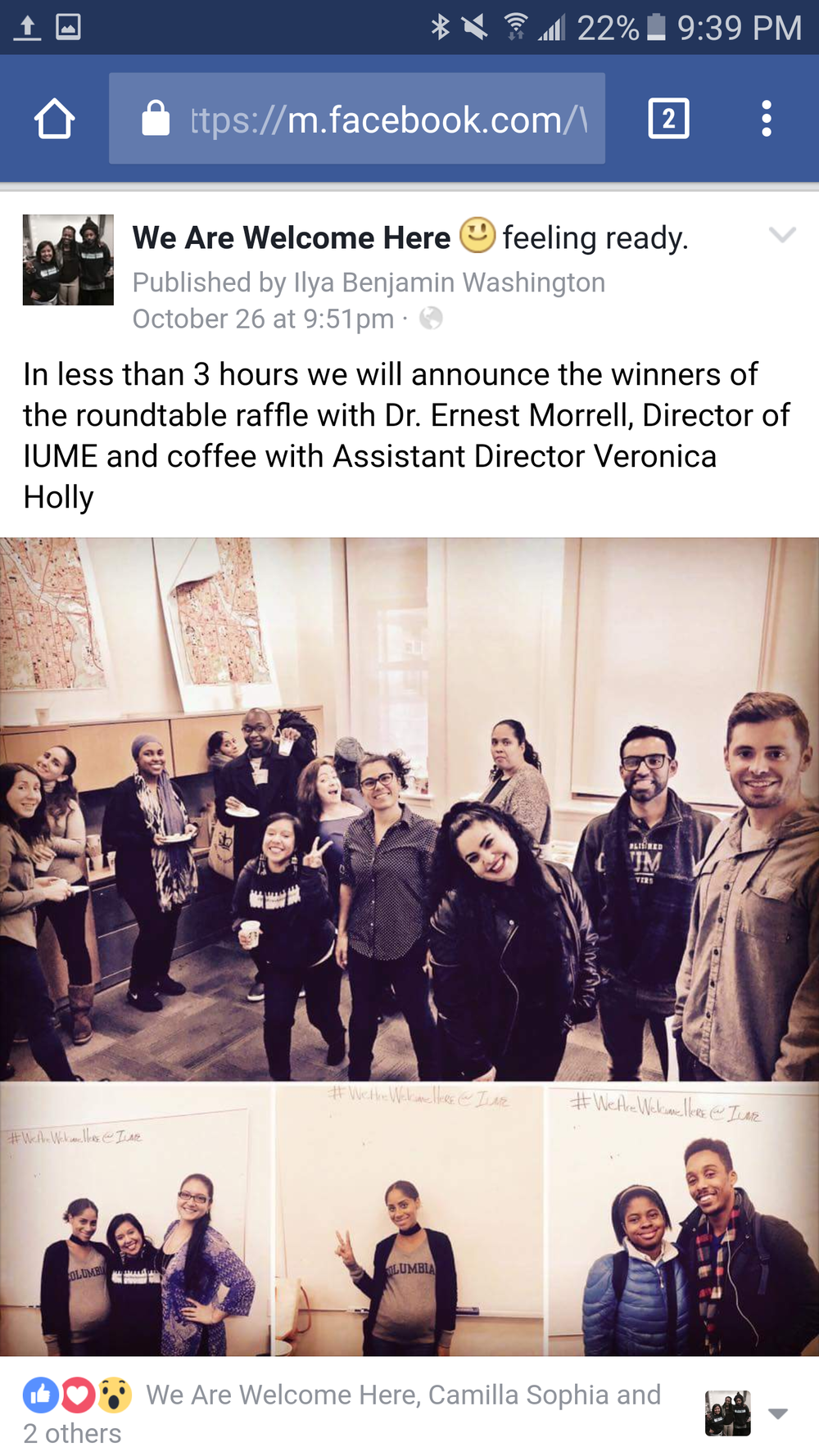 IUME co-sponsored event welcomed students