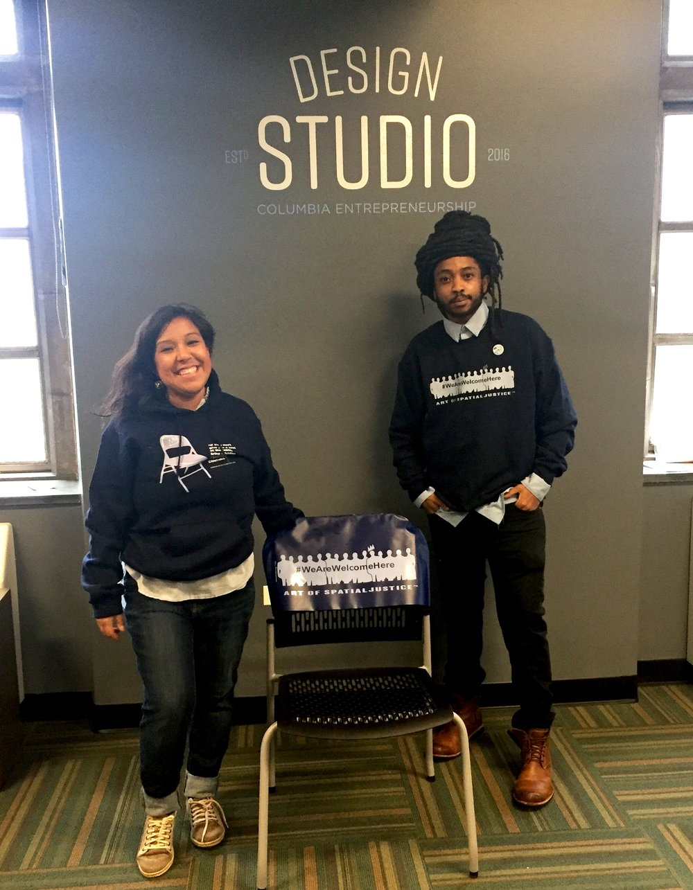 Crowdfunding - Our founders Ilya Benjamin and Marisol Cantú decided to do something about it. Ilya launched a logo and coined the hashtag #WeAreWelcomeHere. Our goal was to sell 20 shirts in 20 days to gauge student interest. We completed our inaugural challenge in 14 days.