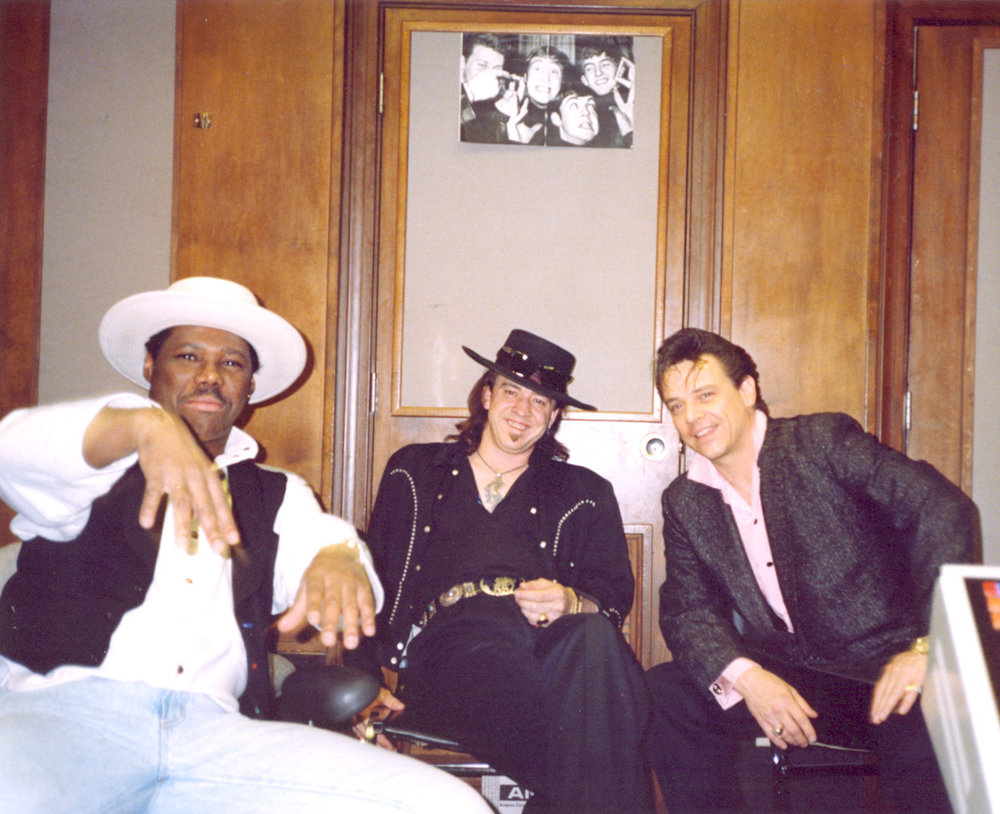 Nile Rodgers, Stevie Ray Vaughan, and Jimmie Vaughan