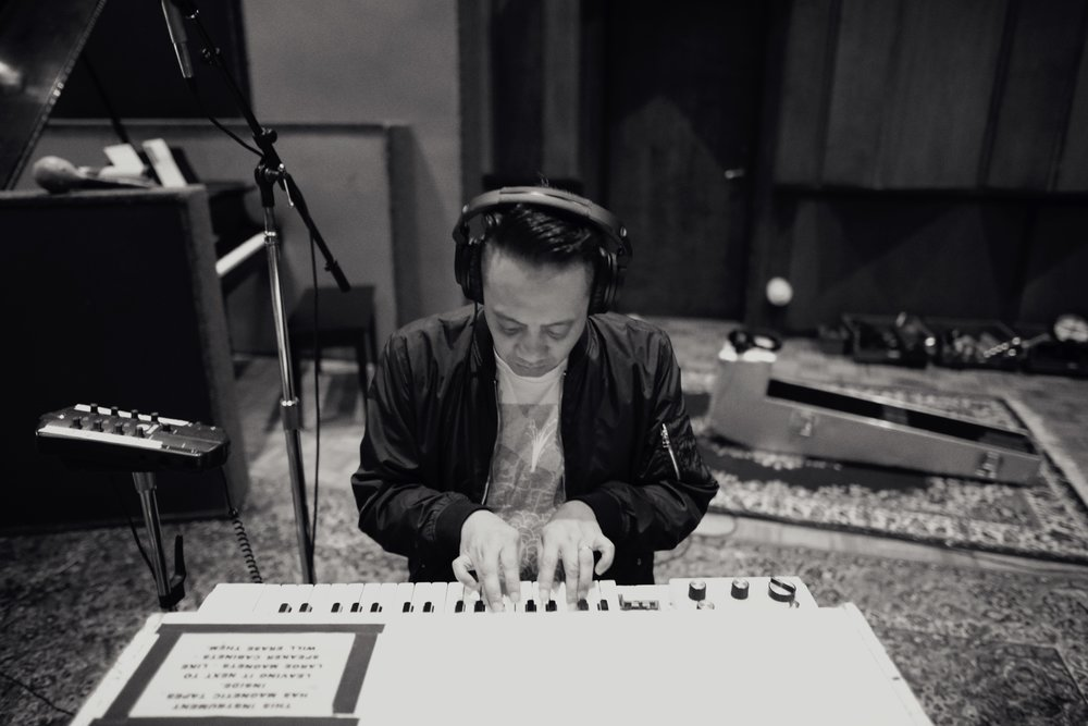Studio A | Jerome Fontamillas using the mellotron from Big Star records ©ChrisTownsend