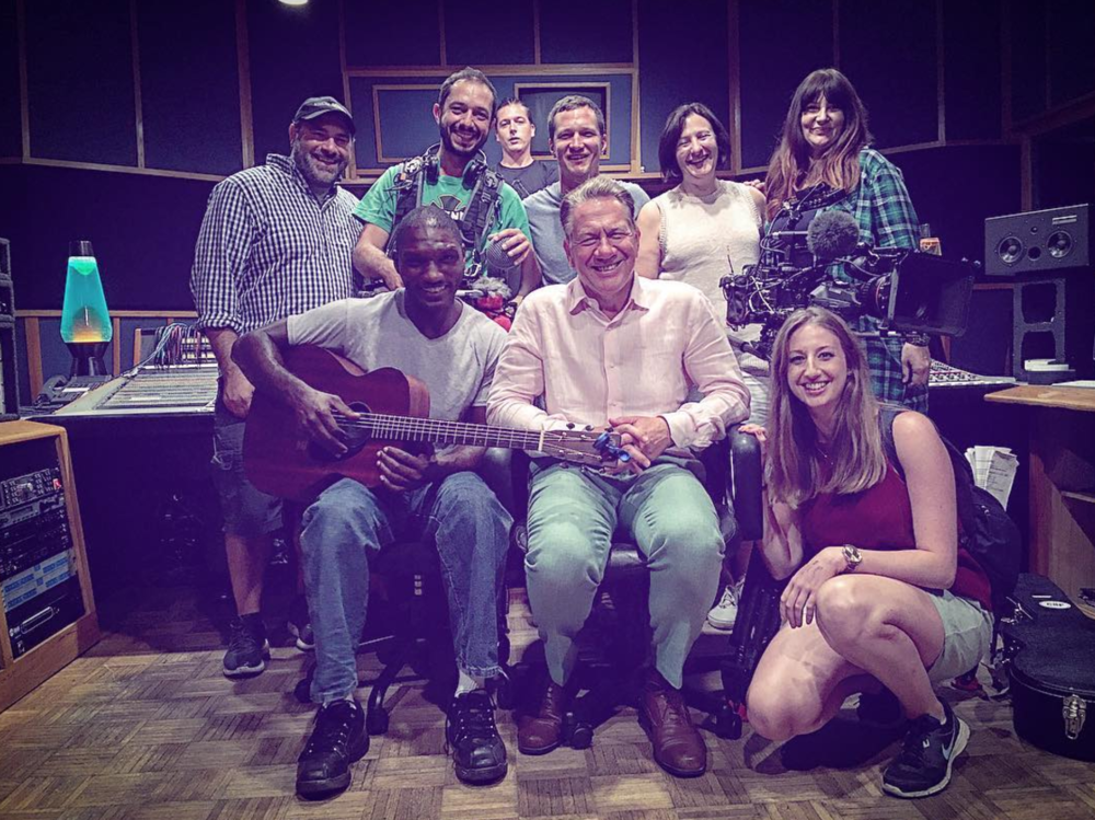 Studio B | Cedric Burnside with the BBC crew for  Great American Railway Journeys  ©AlexanderKoffler