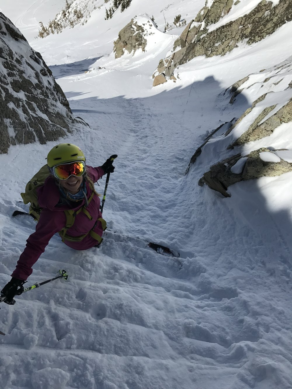 Yes, these lines are steep! Caroline Gleich photo.