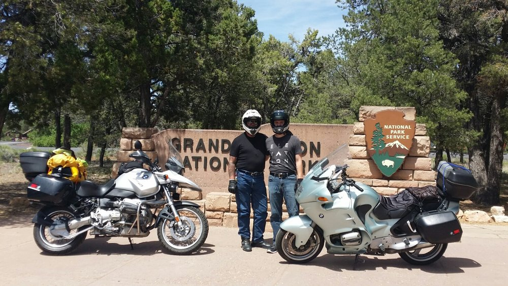 At the Grand Canyon with my son Benjamin in July 2016