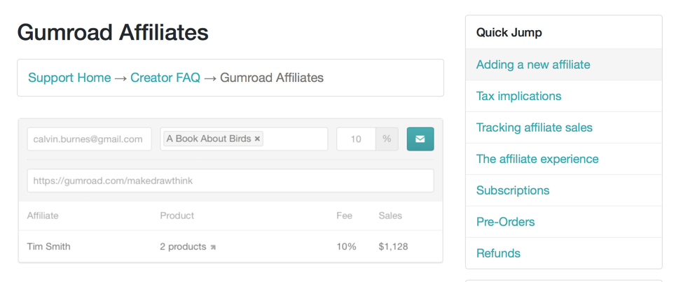 Gumroad is my payment processor of choice